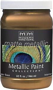 Modern Masters MM238 Matte Metallic Paint, Blackened Bronze, Quart