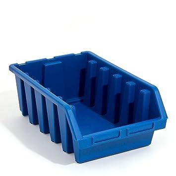 4 x Ergo XL Blau Sortierkisten Stapelboxen Stapelkasten 333x500x187