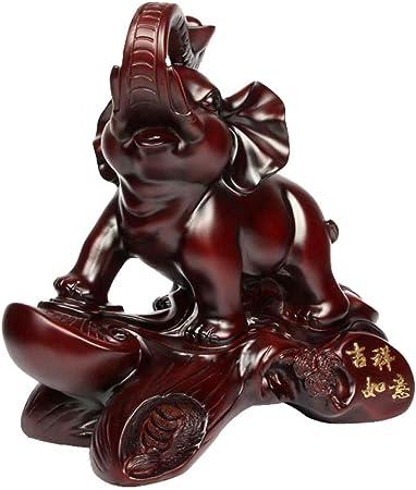 QIBAJIU Escultura Decoración Escultura Decorativa Esculturas Y Estatuas De Jardín Decoración De Elefantes Manualidades Muebles De Sala Decoración De Oficina En Casa Elefante: Amazon.es: Hogar