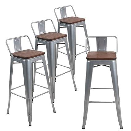 Amazoncom Andeworld Set Of 4 Tolix Style Counter Height Bar Stools