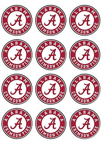 University of Alabama ~ Cupcake Topper ~ Edible Frosting Image