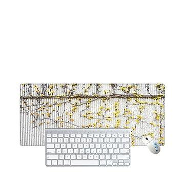 Haofengjing Alfombrilla Patrón De Flor Amarilla Simple Diseño De Piezas De Pistola De Velocidad Juego Ordenador De Computadora Portátil Mouse Pad Gamer Play ...