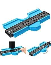 Contour Gauge Duplicator 10 Inch Plastic Irregular Copy Contour Tool Standard Wood Marking Tool Tiling Laminate Tiles General Tools (Blue, 10 inch)