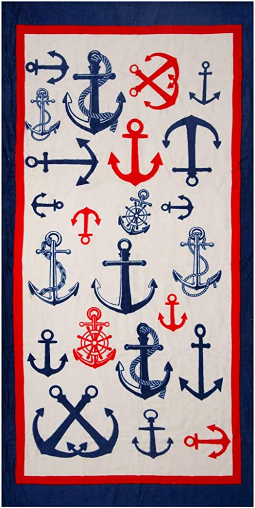 100/% Cotton Soft Quick Dry 30 x 60 Bath Towel by Hencely Anchor Beach Towel