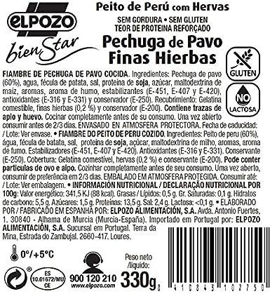 ElPozo Pechuga de Pavo Finas Hierbas, 330g: Amazon.es ...