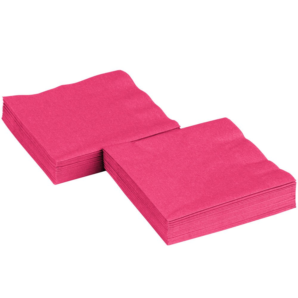 Amscan International Luncheon Napkins, Pack of 50, Magenta 61215.61