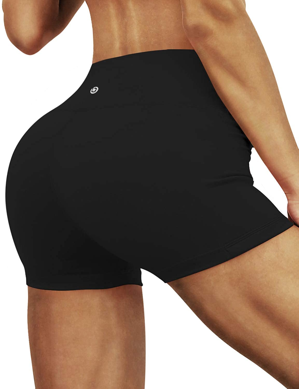 Black(2.5  Inner Pocket) BUBBLELIME 2.5   4  Inseam Out Pocket Yoga Shorts Running Shorts Active