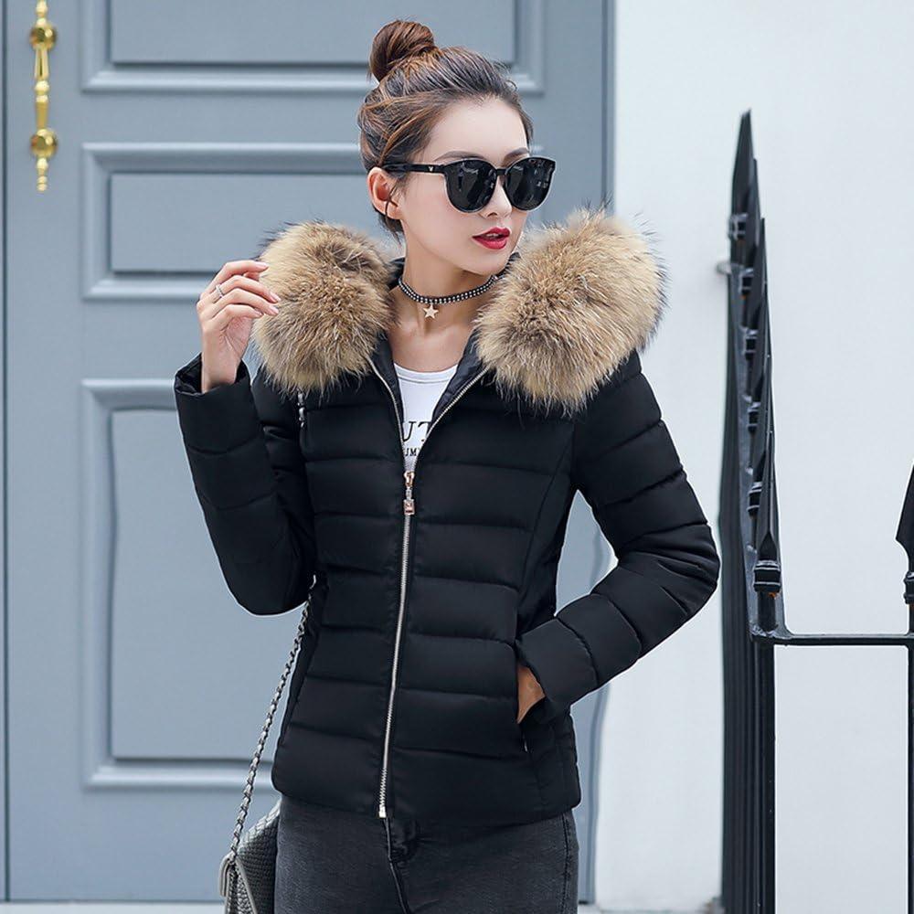 BAINASIQI Donna Elegante Giacca Invernale Corta Trapuntata da Donna Piumino Giacca con Cappuccio Calda Cappotti