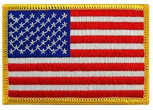 National Russian Costumes (USA American Flag Embroidered IRON-ON Patch - 3.5