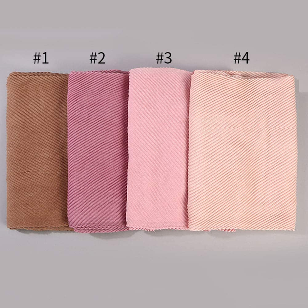 litymitzromq Womens Scarf Blanket Fashion Women Muslim Hijab Cotton Linen Islamic Scarf Folds Shawl Wrap Headwear