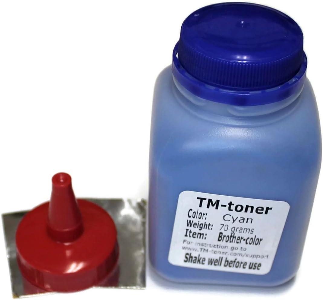 MFC-9340CDW HL-3140CW MFC-9140cdn DCP-9020cdw toner cartridge HL-3150cdw HL-3170CDW TM-toner 70 grams Cyan Toner Refills kit for Brother MFC-9130CW MFC-9330CDW