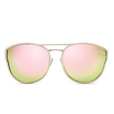 59e0028cbe9 Quay Australia CHERRY BOMB Women s Sunglasses Large Round Cat Eye - Rose  Pink