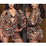 Alicenter(TM) Lady Sexy Lingerie Set Underwear Babydoll Sleepwear Lace Robe Dress G-string Bra