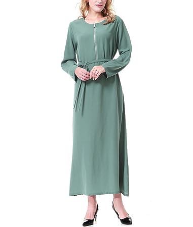 Swallowuk Damen Maxikleid Partykleid Tunika Kleid Abaya: Amazon.de ...
