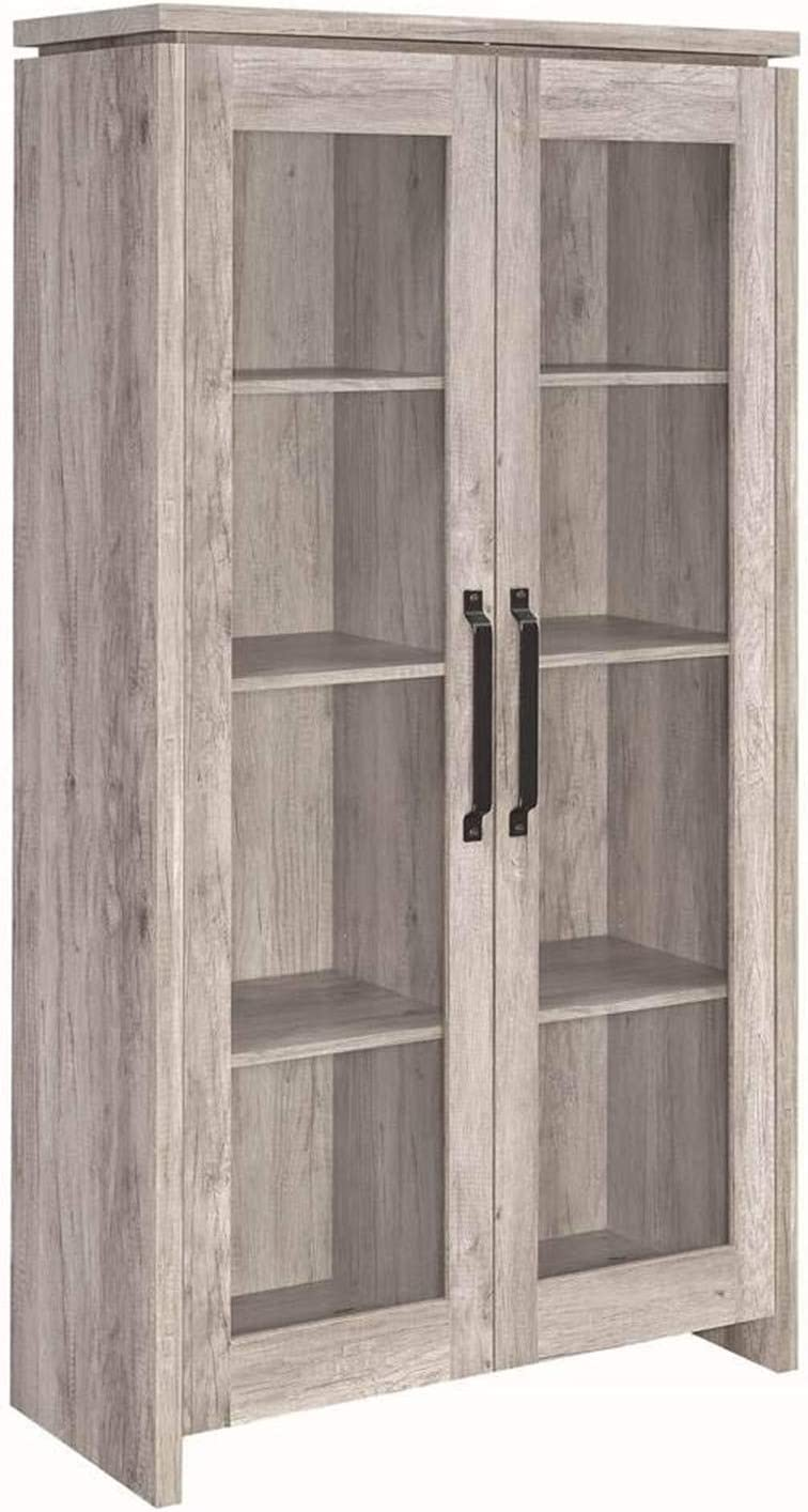 Coaster Home Furnishings 2-door Curio Cabinet Grey Driftwood and Clear