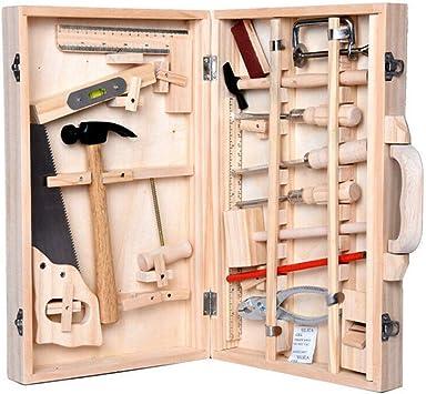Niños DIY Carpintería Caja de herramientas Herramientas de ...