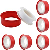 DXLing 6 Rolls Thread Tape PTFE Thread Seal Tape 18mm Wide Industrial Sealant Tape White Repair Tape Waterproof Thread…