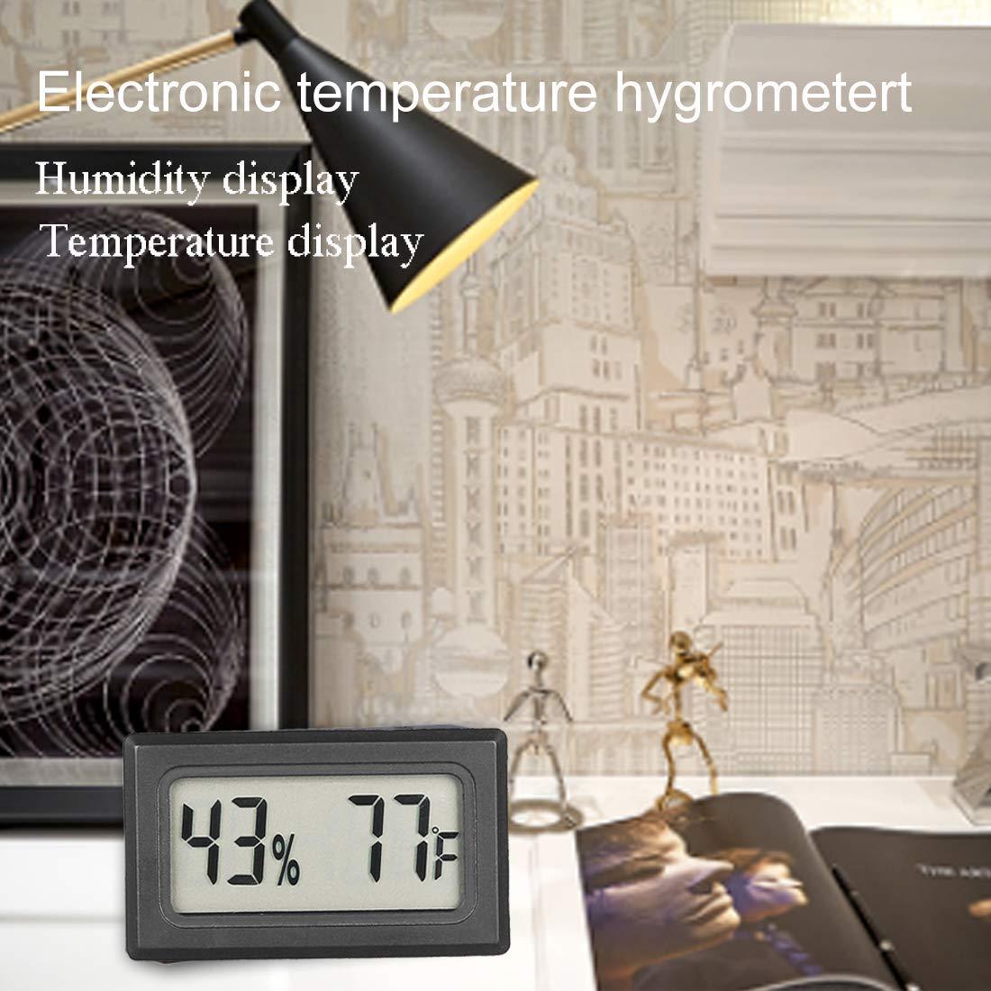 AUTIDEFY 6-Pack Mini Hygrometer Thermometer LCD Display Digital Temperature Humidity Meter Gauge for Incubators Reptile and Humidors Fahrenheit (℉)