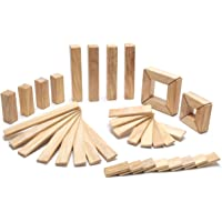 Tegu Explorer Magnetic Wooden Block Set, Natural, 40 Piece