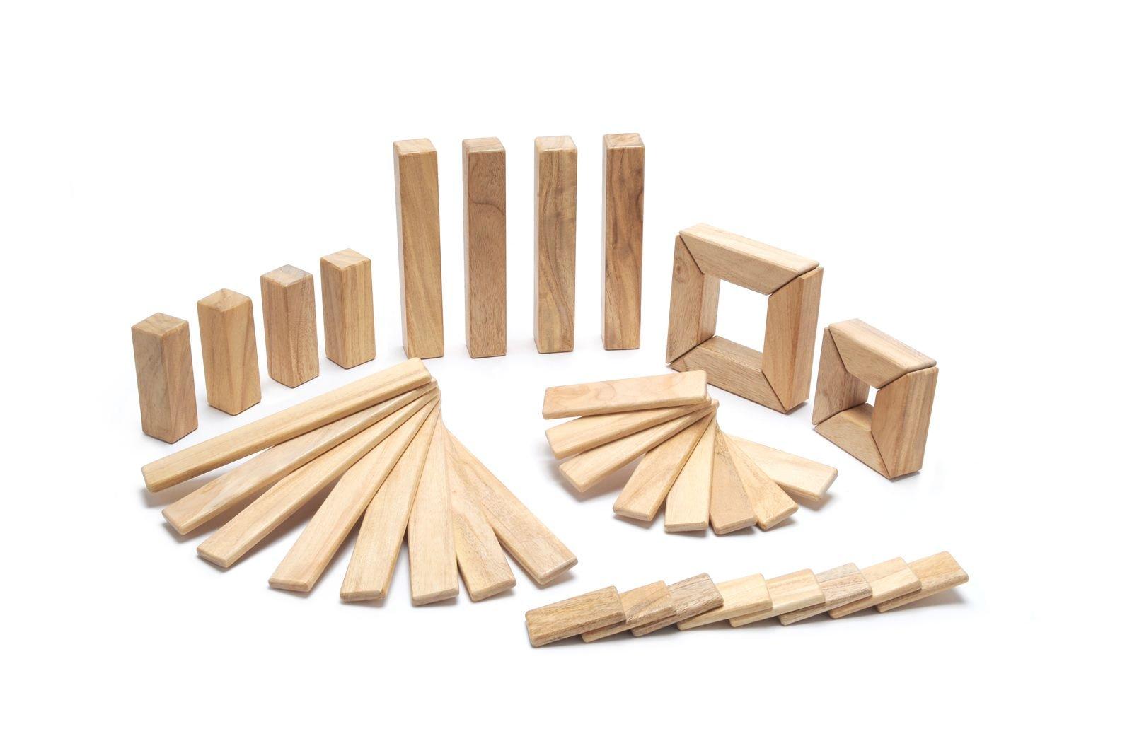 40 Piece Tegu Explorer Magnetic Wooden Block Set, Natural