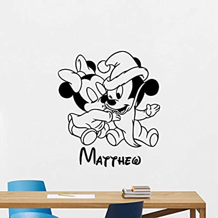 PERSONALIZED NAME MICKEY MOUSE WALT DISNEY Custom Vinyl Wall Decal Sticker Decor