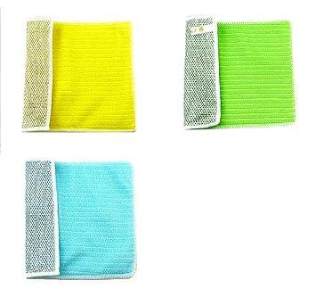 MLL Trapo De Microfibra De Oro Y Plata - Toalla De Cocina De Absorción De Agua