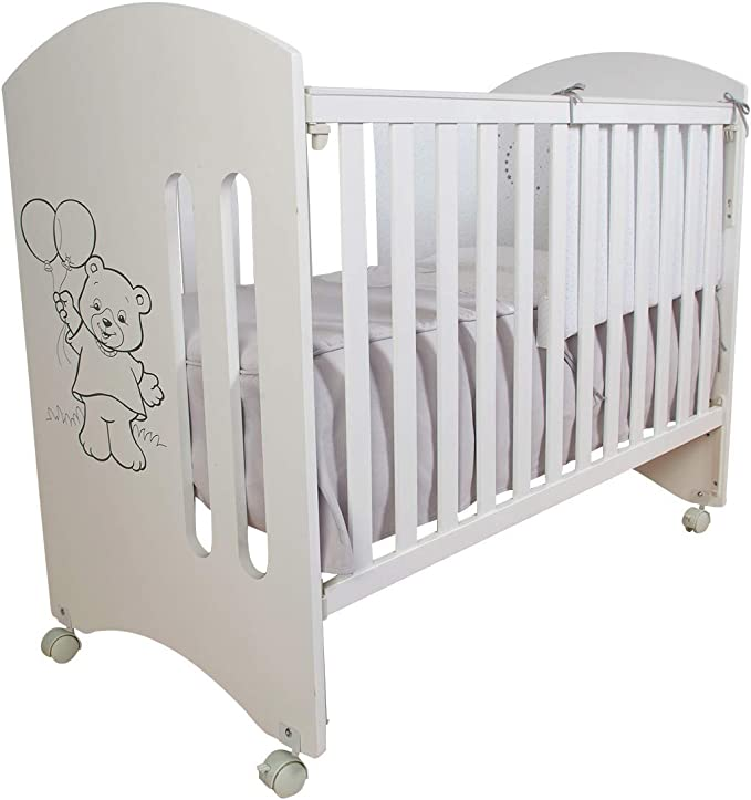 Cuna para bebé, modelo Globitos. 1 lateral abatible y 5 ...