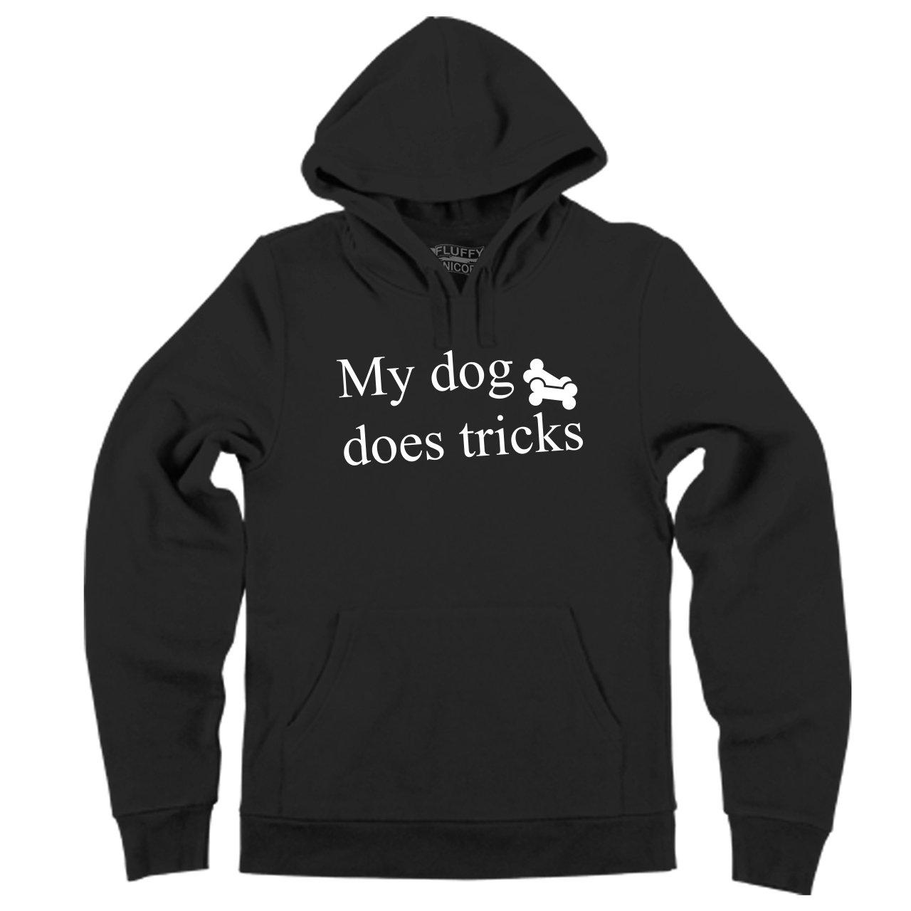 Comical Shirt Mens My Dog Does Tricks Hoodie