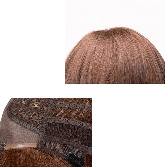 Peluca Peluca de pelo corto rizado europeo y americano Natural de moda mujeres mullidas de alta calidad Pelucas: Amazon.es: Belleza