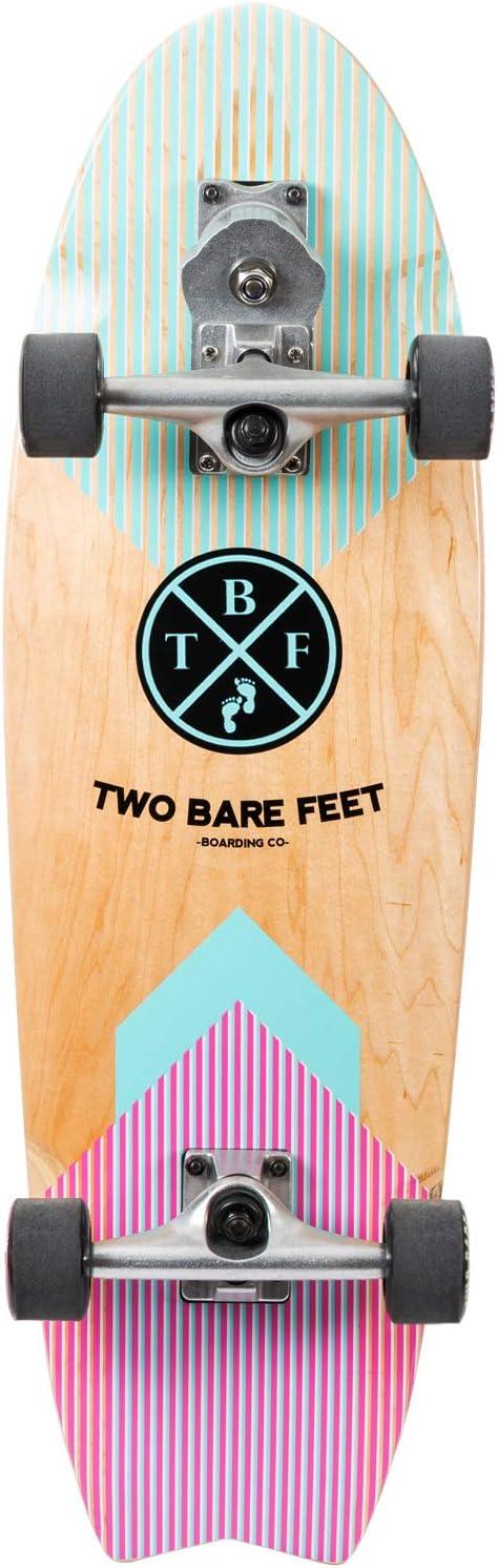 """Two Bare Feet Retro Rocket 360 Surfskate Complete Cruiser Skateboard Black 32/"""""""