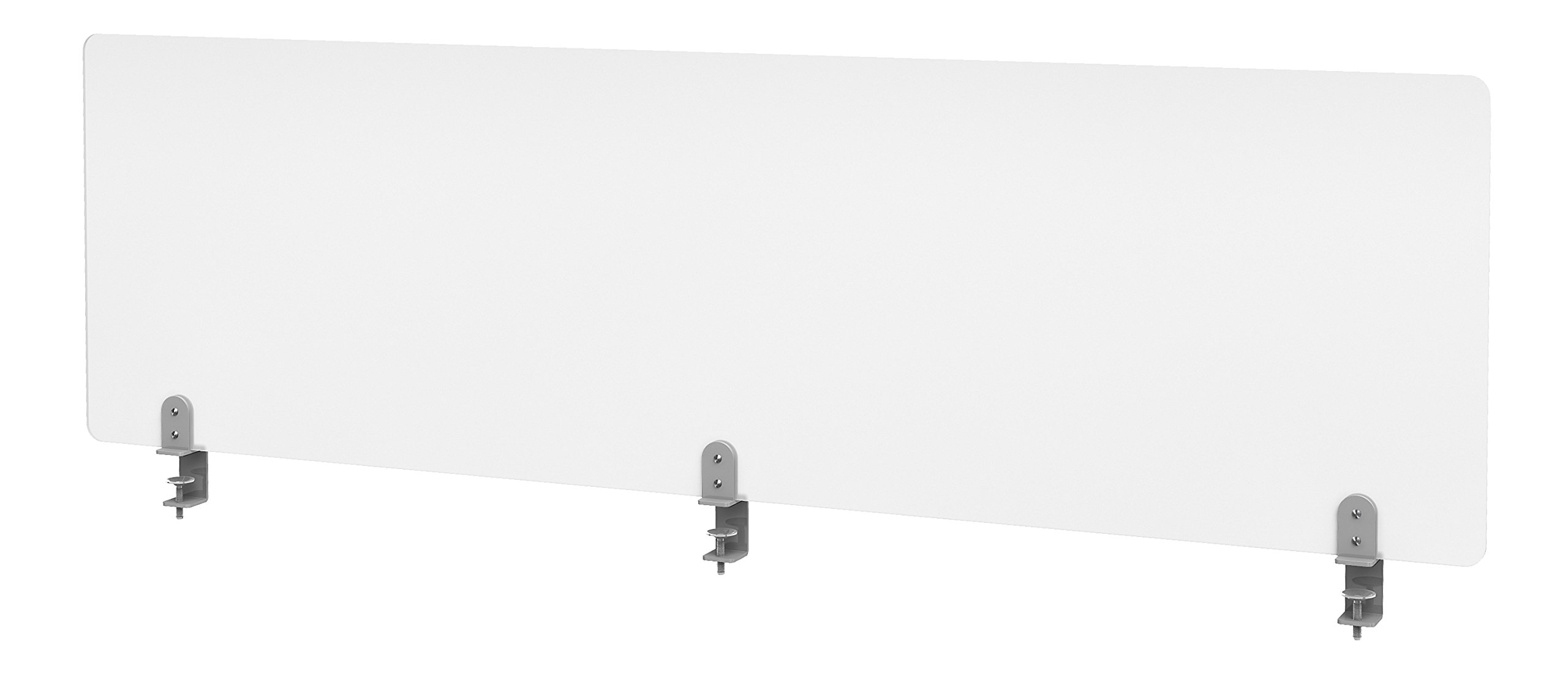 "VaRoom Studio Panel Desktop Privacy Panel – Frosted Acrylic Clamp-on Desk Divider –60"" W x 18""H Partition by VaRoom (Image #3)"