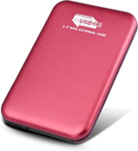 Disco Duro Externo 1tb USB 3.0 para Mac, PC, MacBook, Chromebook, Xbox (1tb, Rojo)