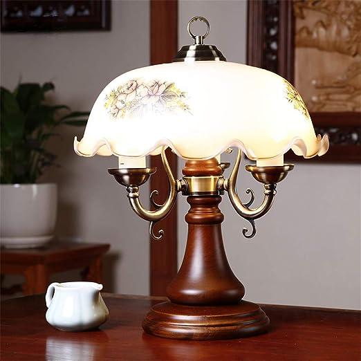 Lámpara de cabecera Lámpara de mesa rústica Regulable Estudio ...