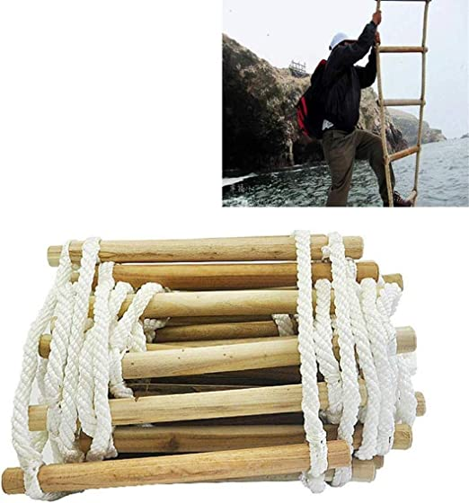 FTDSR Rescate Escalera de Cuerda ingeniería Escape Rescate, Reutilizable Resistente a la Llama de Seguridad 2-7 Historia Casas Escalera Simple de Usar for los niños y Adultos de Escape: Amazon.es: Hogar