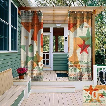 Amazon.com: XXANS - Cortina de exterior para patio, diseño ...