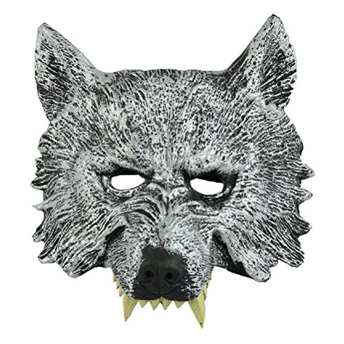 Wolf Head Mask - TOOGOO(R)Grey Wolf Head Mask for Cosplay Halloween Masquerade (Wolf Masks For Adults)