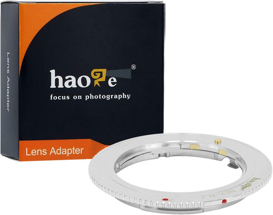 Haoge Manual Lens Mount Adapter for Sony E Mount Lens to Nikon Z Mount Camera Such as Z6 Z7 Z50