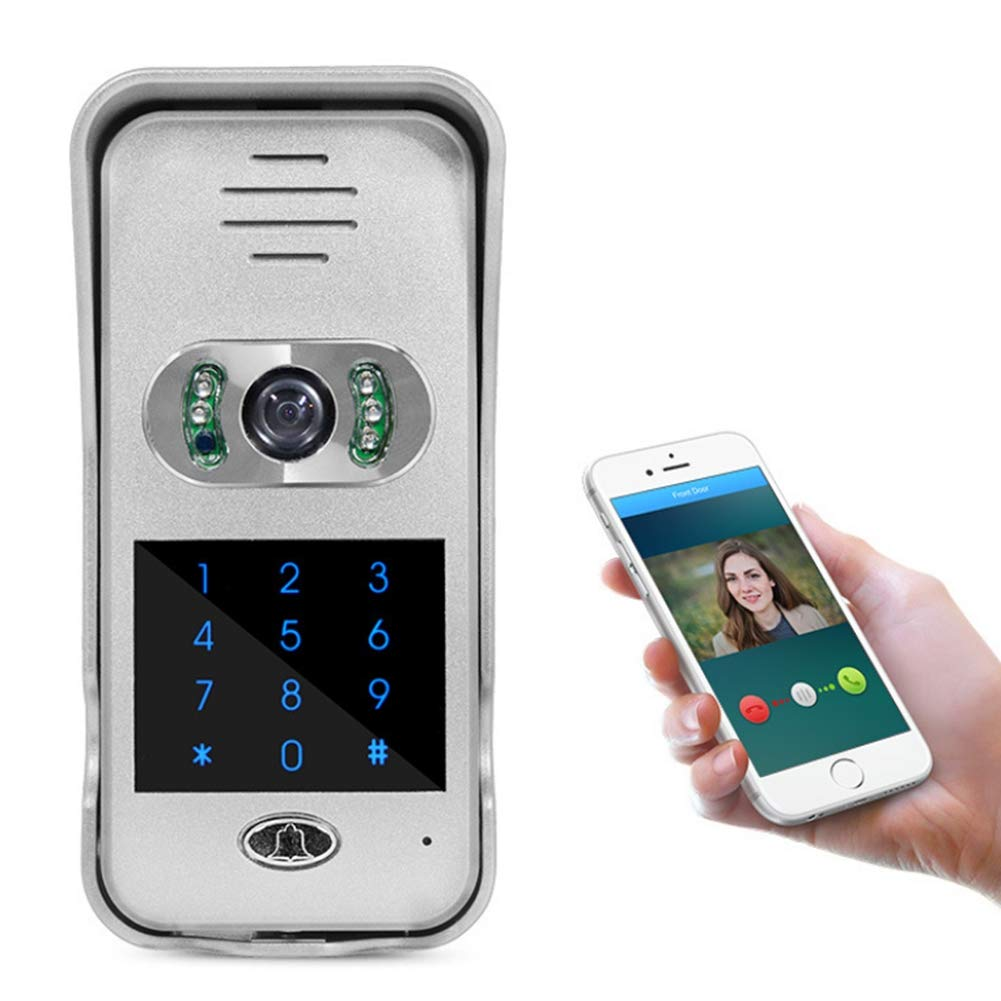Doorbell@ Video Security Camera With Two-Way Audio HD Recording Free App For IOS And Android Password Unlock Function