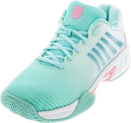 Cactus Flower//White K-Swiss Hypercourt Express 2 Junior Tennis Shoe