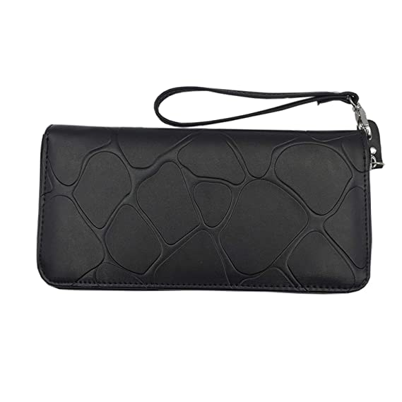 Wallet Women Leather Long Stone Pattern Zipper Luxury Brand ...