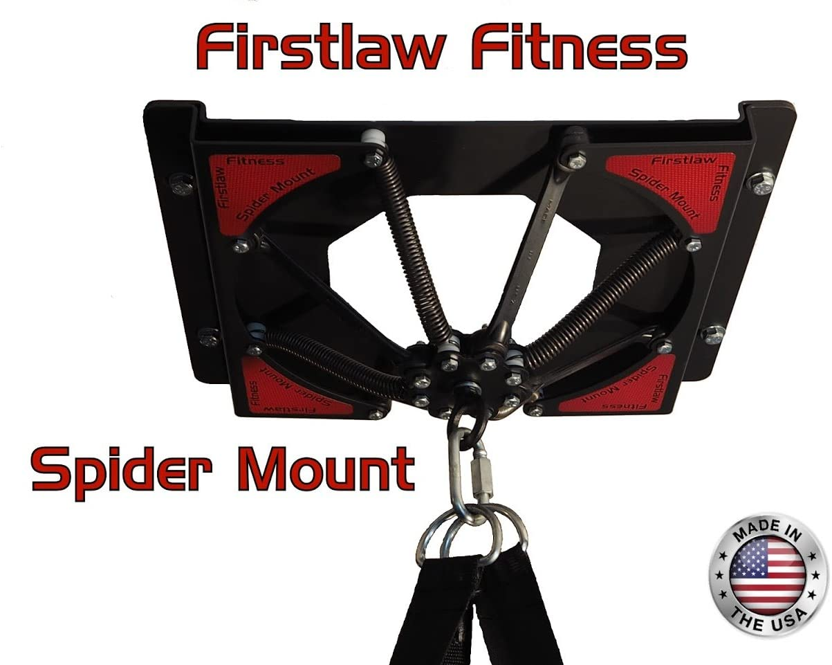 Firstlaw Fitness Spider Mount 140 for Heavy Bags up to 140 LBS Heavy Punching Bag Hanger with Extensions Made in The USA