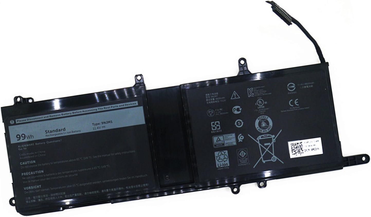 Dentsing 9NJM1 Battery for Dell Alienware 15 R3 17 R4 99Wh 11.4V 01D82