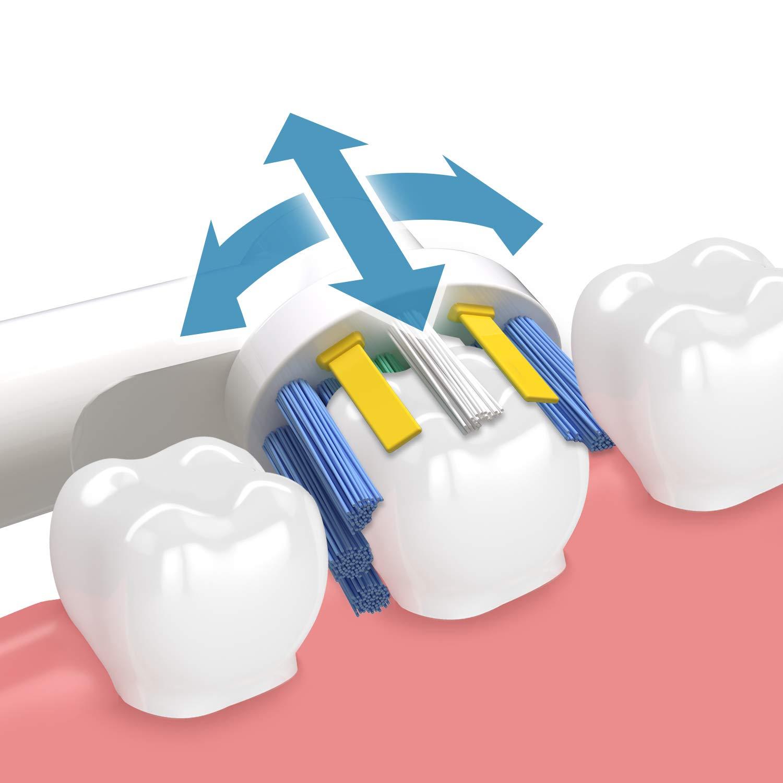 4 Floss Action Include 4 Precision Clean iTrunk Confezione da 16 testine di Ricambio per spazzolino Elettrico Oral B PRO 700 PRO 5000 PRO 6500 4 Cross Action /& 4 3D White