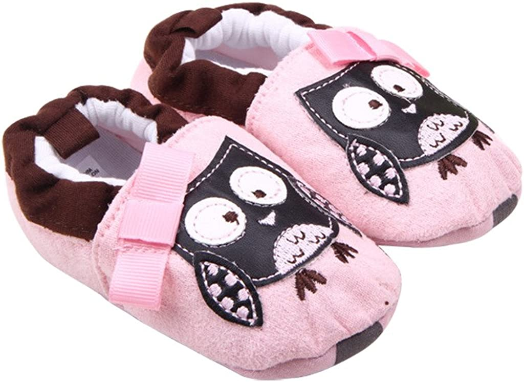 Optimal Baby Cotton Animal Print Soft Sole Prewalker Crib Shoes