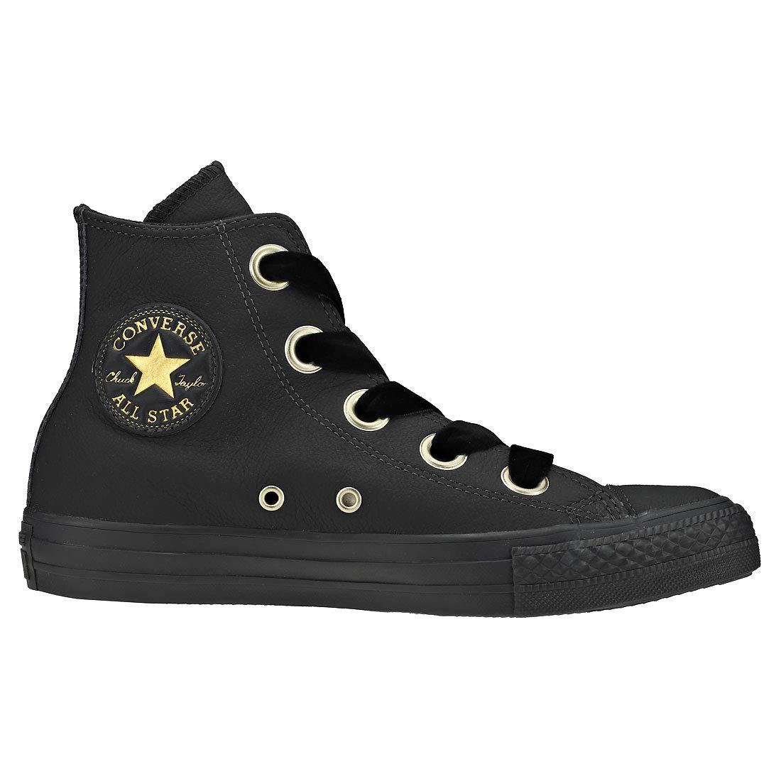 Converse Damen Chuck Taylor CTAS Big Eyelets Eyelets Eyelets Hi Sneakers Schwarz (Almost schwarz/Almost schwarz/Gold 049) a23a88