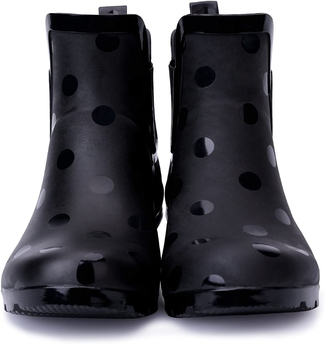 Matte and Light Rubber Elastic Rain Booties KushyShoo Womens Ankle Rain Boots