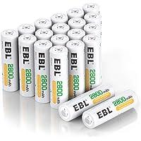 EBL AA oplaadbare batterij 2800 mAh 20 stuks hoge capaciteit Ni-MH AA batterijen