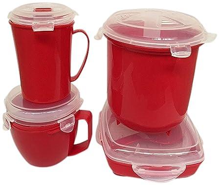 Silicona para Horno Microondas arroz Vapor, rojo, 20 x 20 x 16 cm ...