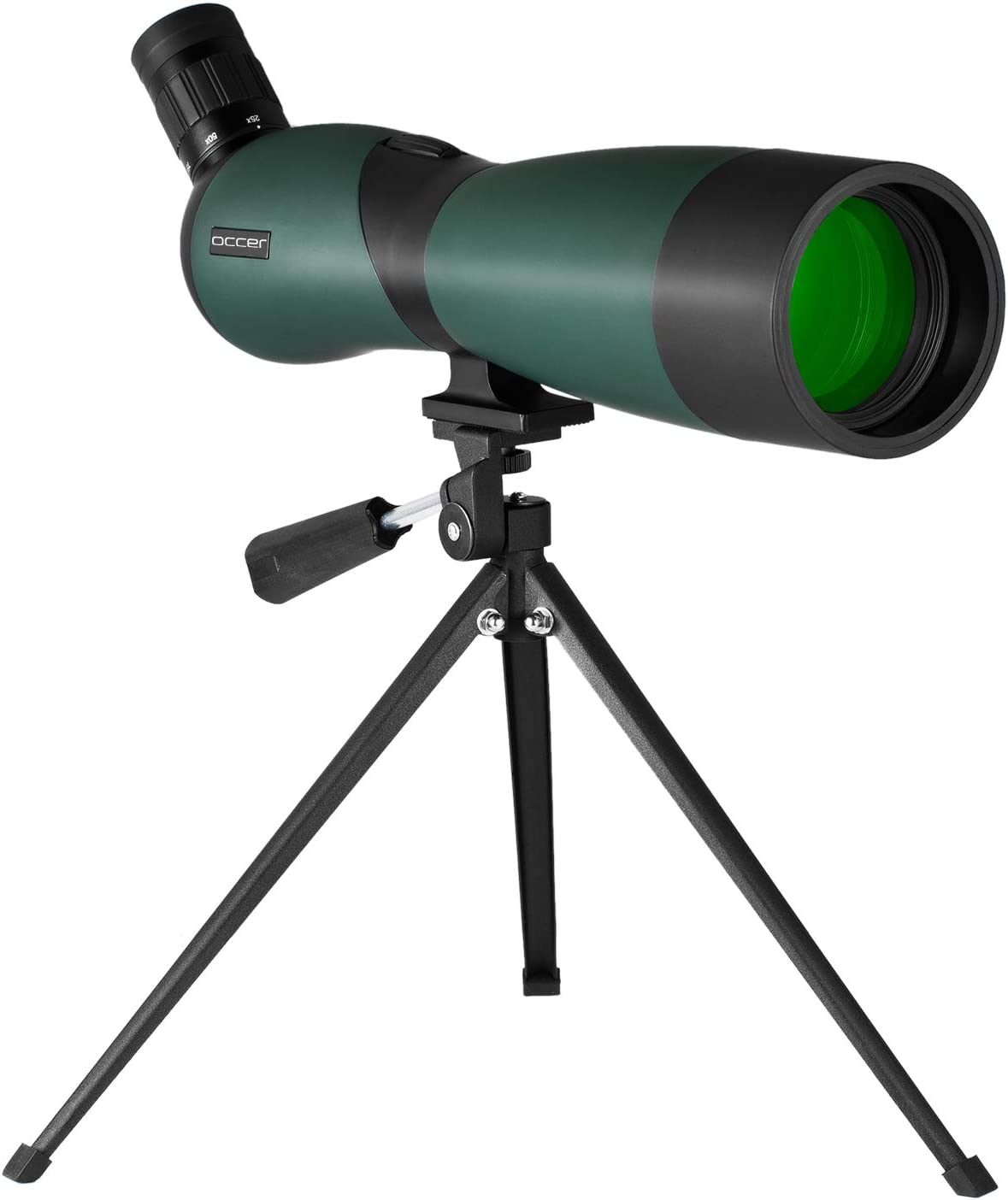 occer 25-75×70 Spotting Scope Telescope with Tripod,Long Eye Relief 45 Degree Angled Eyepiece Scopes,Waterproof Spotter Scope for Hunting,Target Shooting,Bird Watching,Archery,Wildlife-with Carry Case
