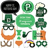 Big Dot of Happiness St. Patrick's Day - Saint Patty's Day Photo Booth Props Kit - 20 Count